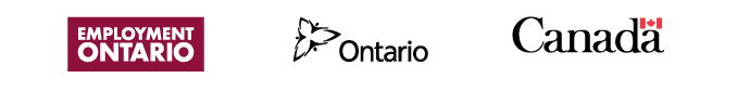 Logos for Employment Ontario, Government of Ontario and Government of Canada